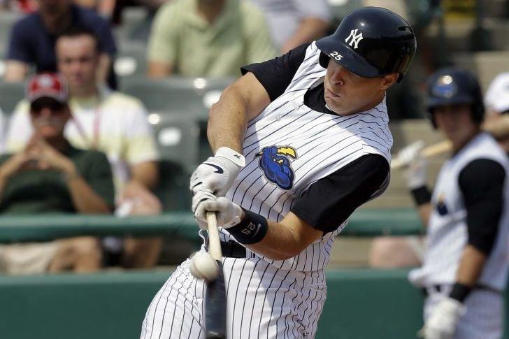 Le premier but des Yankees de New York,... (PHOTO MEL EVANS, AP)