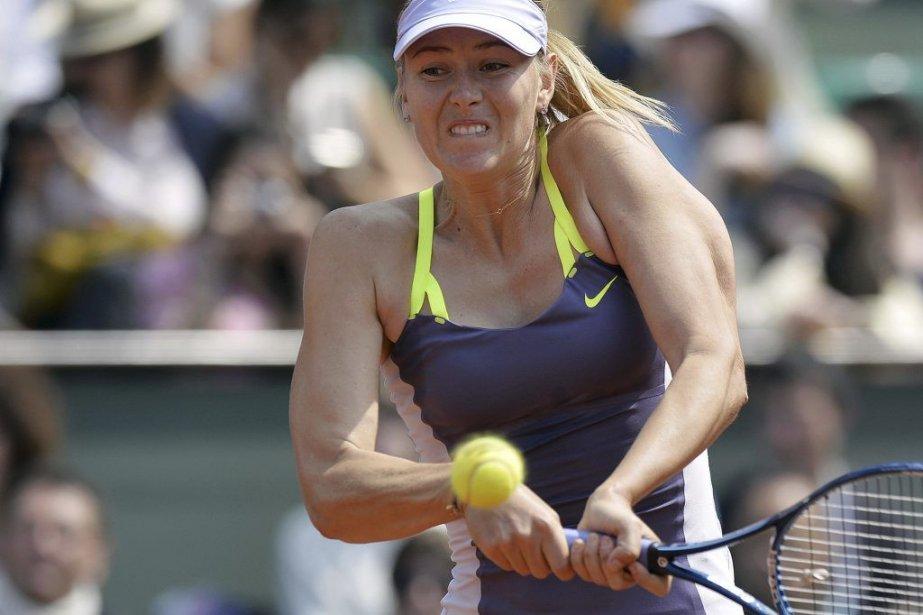 La Russe Maria Sharapova s'est qualifiée pour les... (PHOTO MIGUEL MEDINA, AFP)