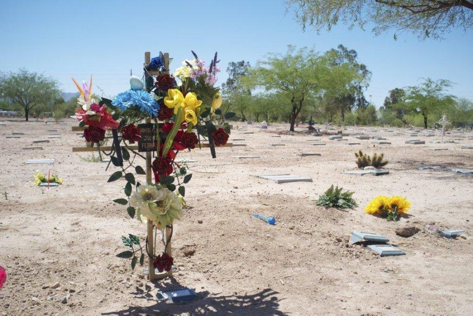 Le cimetière de comté de Pima, où sont... (PHOTO NICOLAS BÉRUBÉ, LA PRESSE)