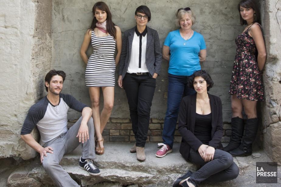 Jean-Sébastien Courchesne, Sophie Desmarais, Chloé Robichaud, Micheline Lanctôt,... (Photo Ninon Pednault, La Presse)