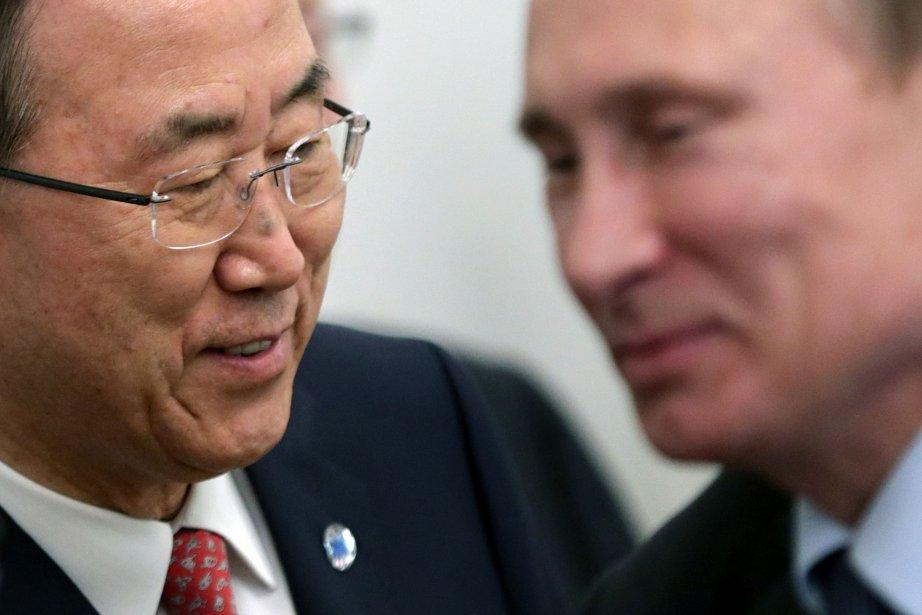 Ban Ki-moon, le Secrétaire général des Nations Unies... (PHOTO MAXIM SHIPENKOV, ARCHIVES AFP)
