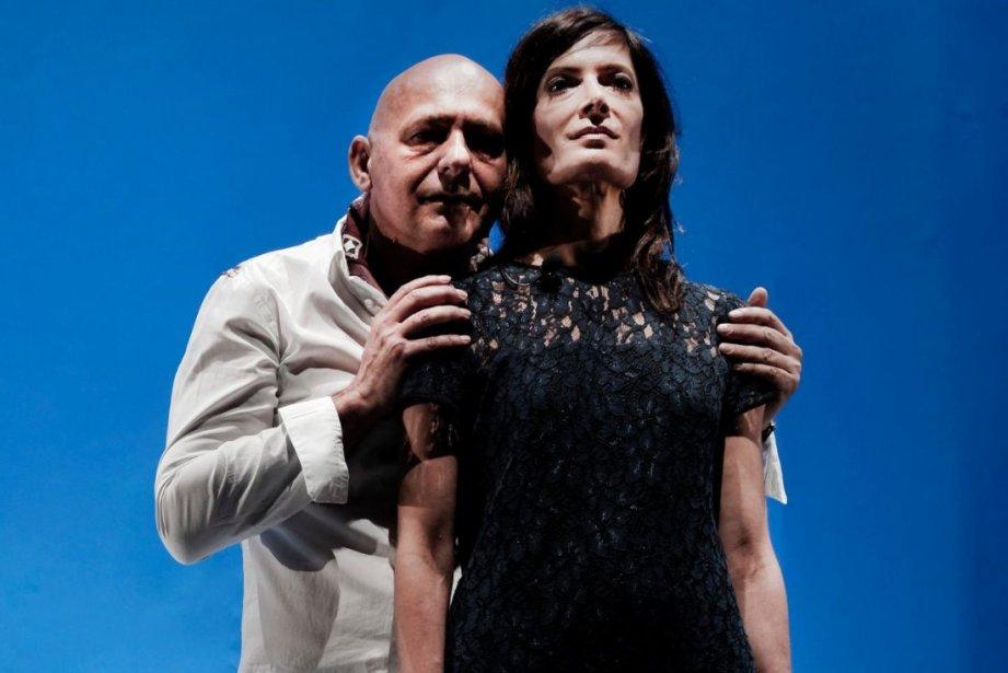 Le comédien français Jean Alibert et la comédienne... (Photo Yan Turcotte)