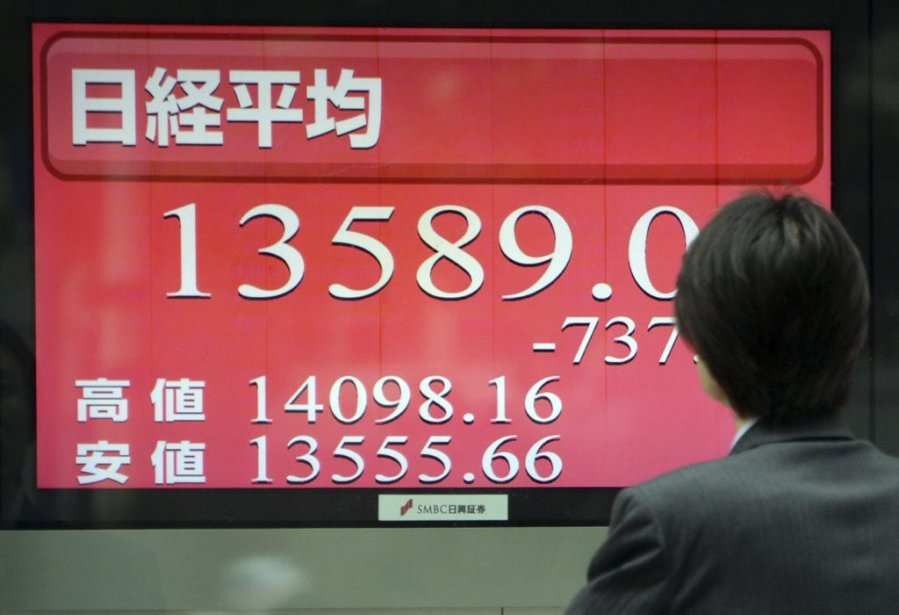 Le 23 mai, le Nikkei perdait 7 %.... (Photo AFP)