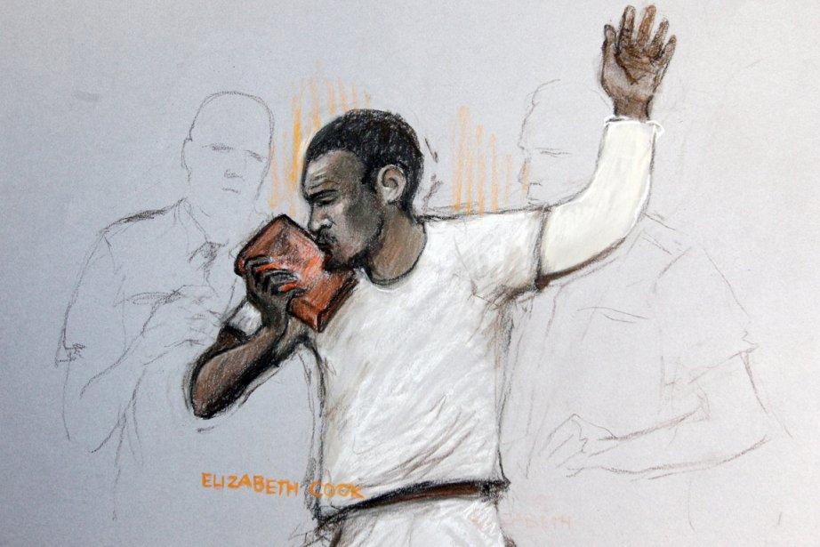 Devant le tribunal de Westminster, Michael Adebolajo a... (ILLUSTRATION ELIZABETH COOK, AP)