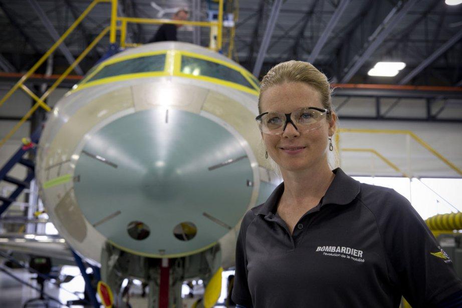 Geneviève Snow, 35 ans, travaille chez Bombardier depuis... (Photo David Boily, La Presse)