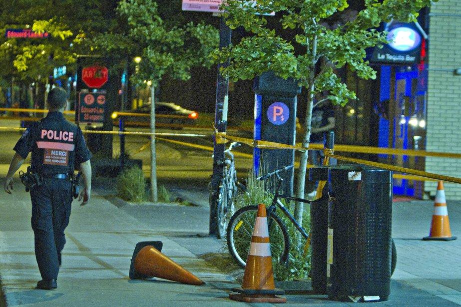 La victime, qui a été atteinte par au... (PHOTO FÉLIX O.J. FOURNIER, LA PRESSE)