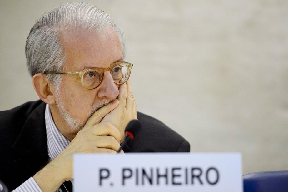Le président de la Commission de l'ONU sur... (PHOTO FABRICE COFFRINI, AFP)