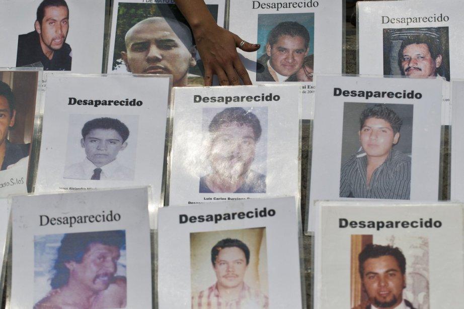 Portraits de disparus au Mexique.... (PHOTO RONALDO SCHEMIDT, AFP)