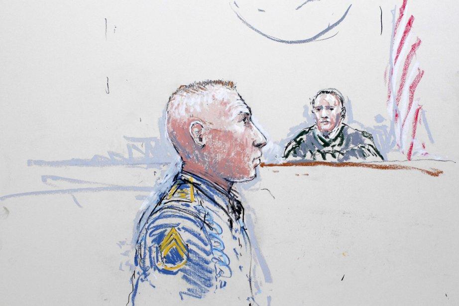 Interrogé par le juge militaire, le colonel Jeffery... (ILLUSTRATION PETER MILLETT, REUTERS)