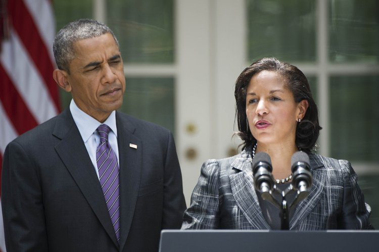 Susan Rice en conférence de presse aux côtés... (Photo: AFP)