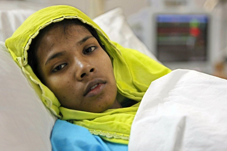 La jeune fille, Reshma, était soignée à l'hôpital... (Photo A.M Ahad, Associated Press)