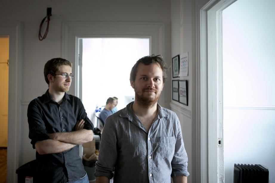 Sam Vermette et Guillaume Campagna, de The Transit... (Photo Marco Campanozzi, La Presse)