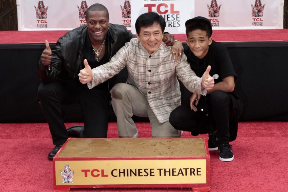 Chris Tucker, Jackie Chan et Jaden Smith... (Photo Jonathan Alcorn, Reuters)