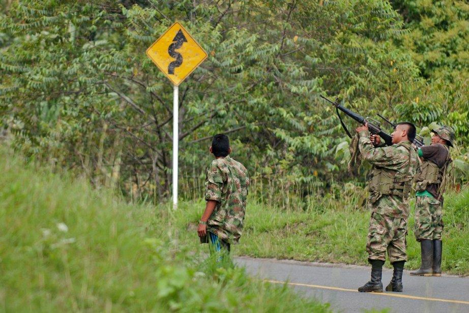 Entre 1999 et 2002, le gouvernement colombien a... (PHOTO LUIS ROBAYO, AFP)