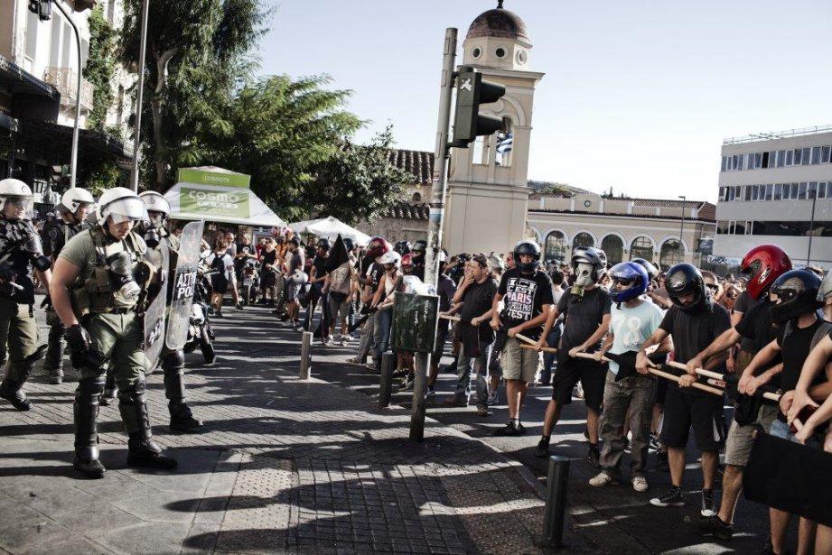 La déboires financiers de la Grèce ont mené... (Photo ADAM FERGUSON, The New York Times)