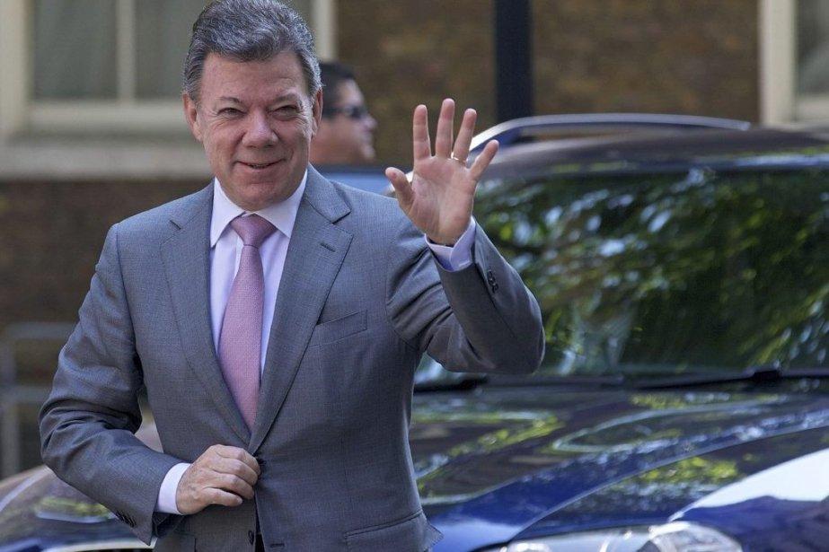 Le président colombien Juan Manuel Santos.... (Photo Andrew Cowie, Agence France-Presse)
