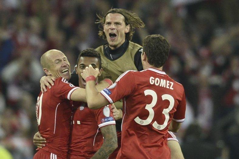 Le Bayern Munich a réalisé cette saison un... (PHOTO ADRIAN DENNIS, ARCHIVES AFP)