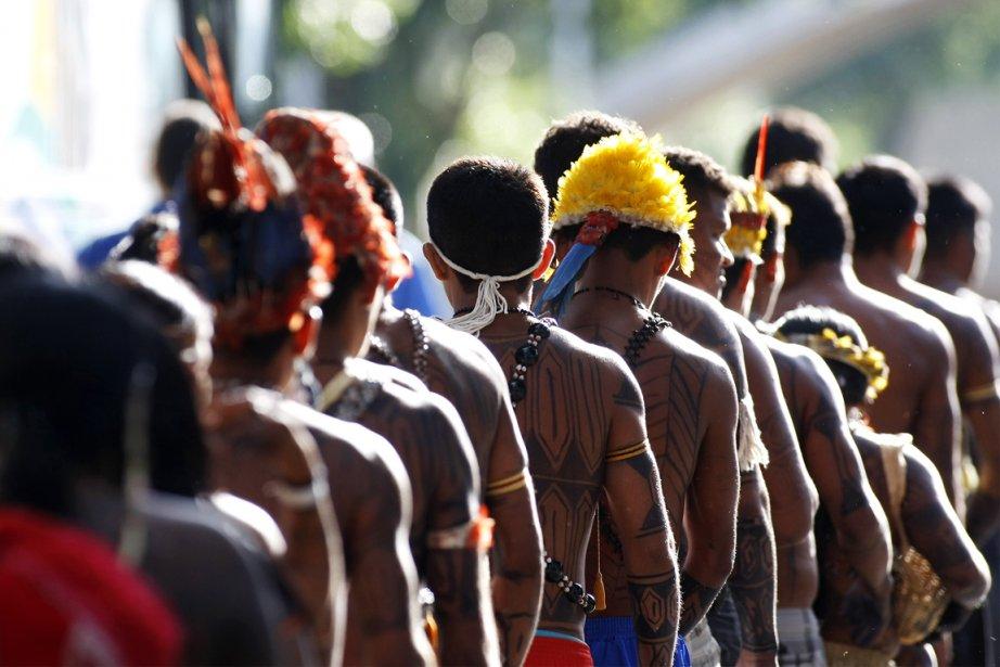 Des autochtones Mundurukus.... (PHOTO BETO BARATA, AFP)