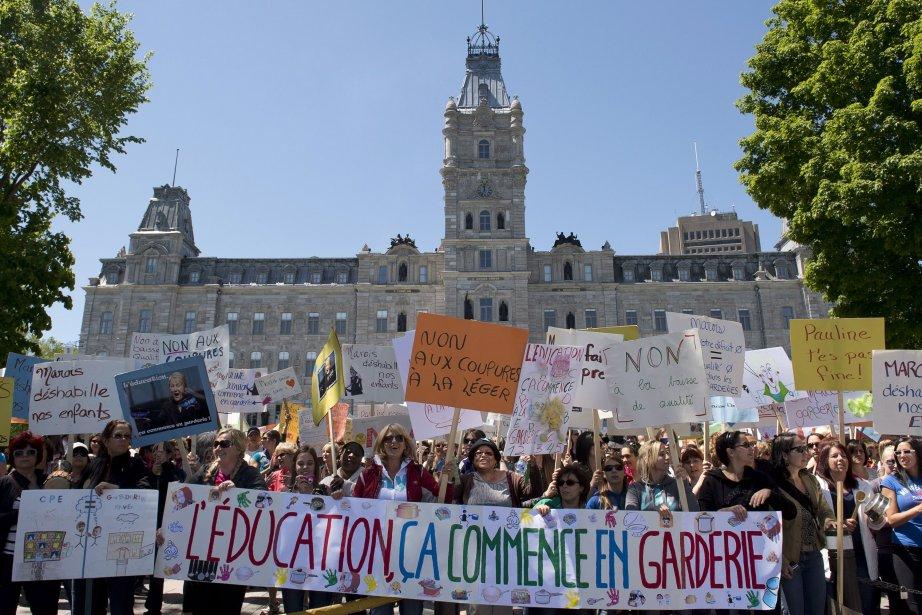 L'Association des garderies privées du Québec envisage de... (PHOTO Jacques Boissinot, PC)