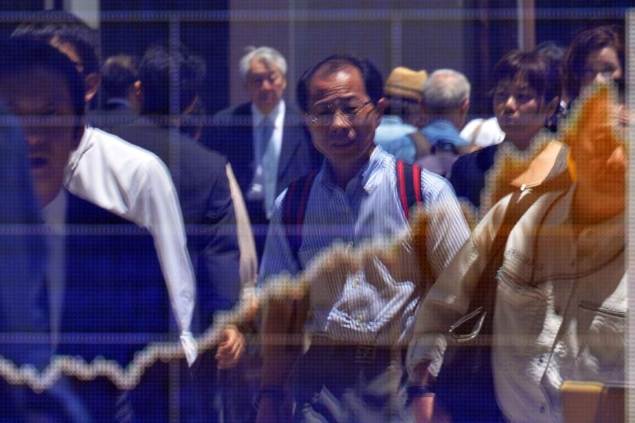 La croissance a nettement ralenti au Japon entre... (PHOTO YOSHIKAZU TSUNO, AFP)