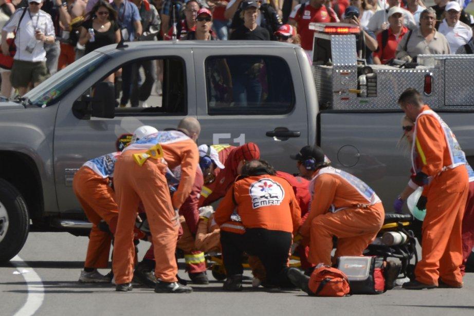 Un signaleur bénévole de 38 ans est mort... (Photo: Bernard Brault, La Presse)