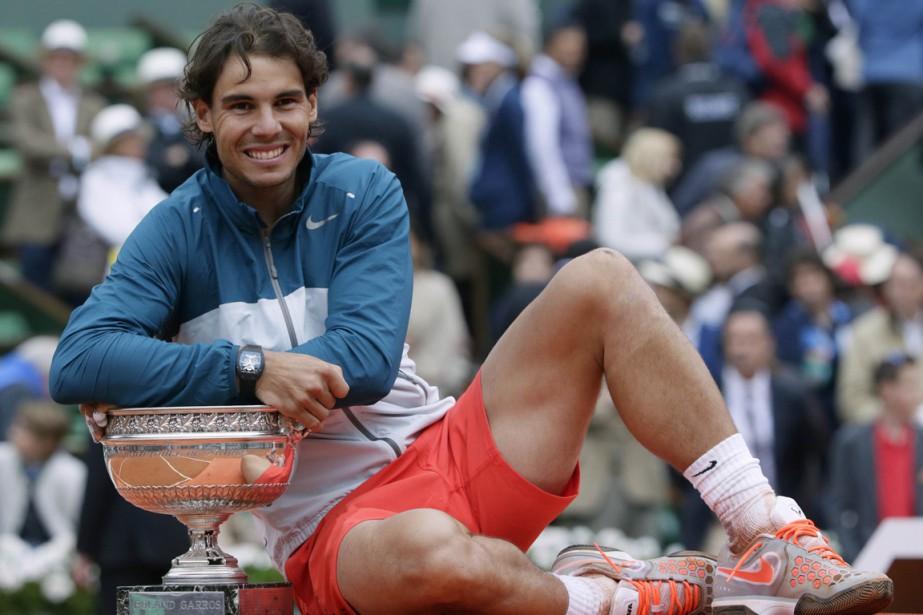 Rafael Nadal a remporté son huitième titre à... (Photo Kenzo Tribouillard, archives AFP)