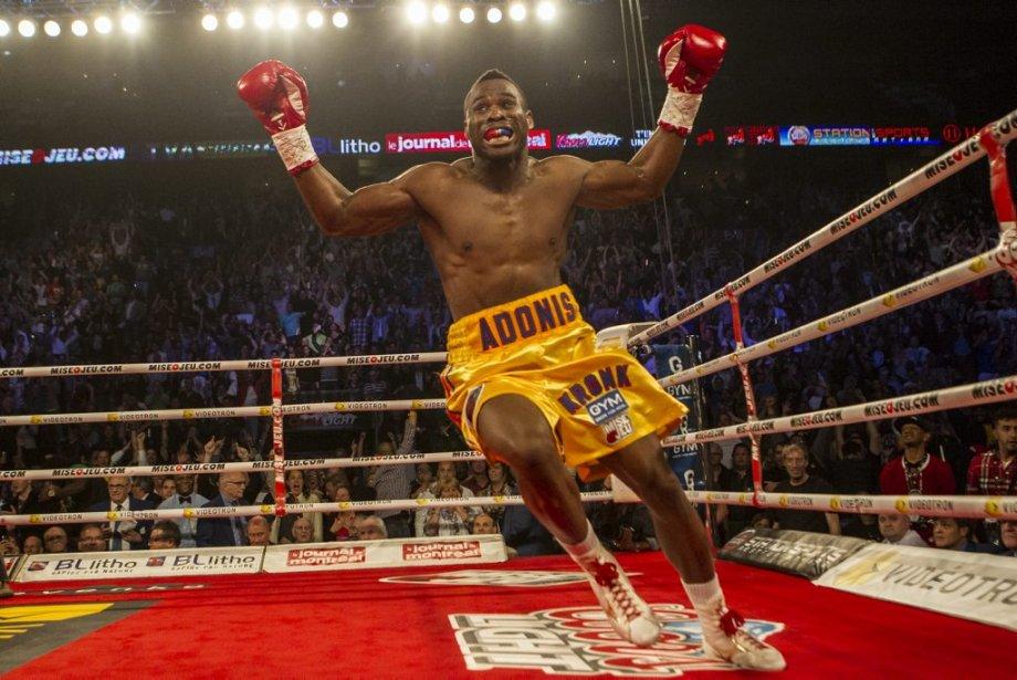 Adonis Stevenson lors du combat contre Chad Dawson,... (PHOTO OLIVIER PONTBRIAND LA PRESSE)