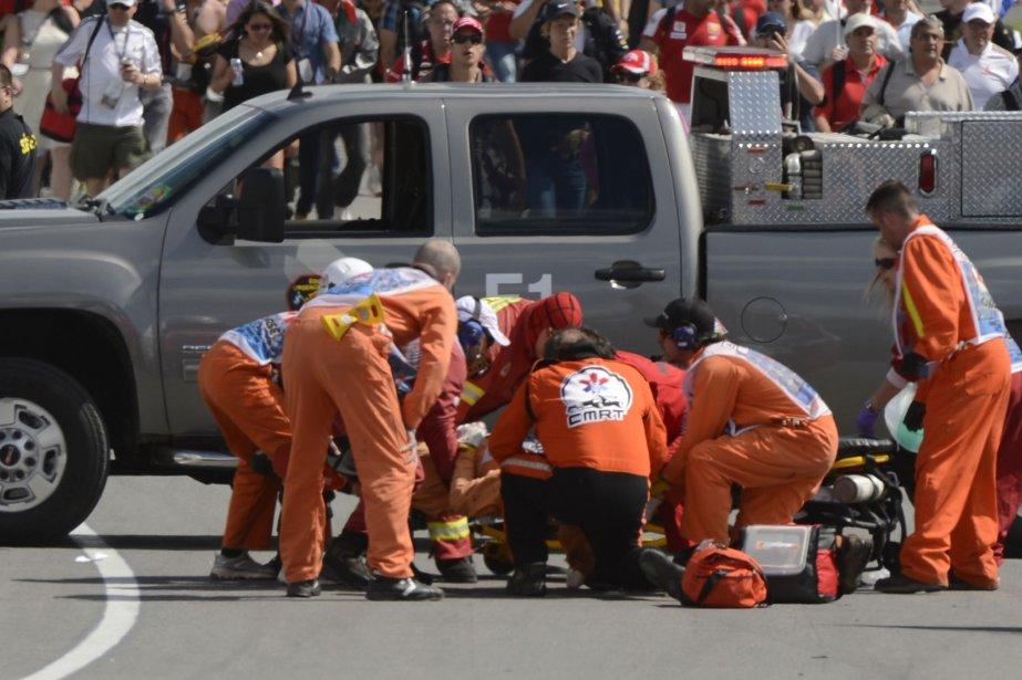 Quelques minutes après la fin de la course,... (Bernard Brault, La Presse)