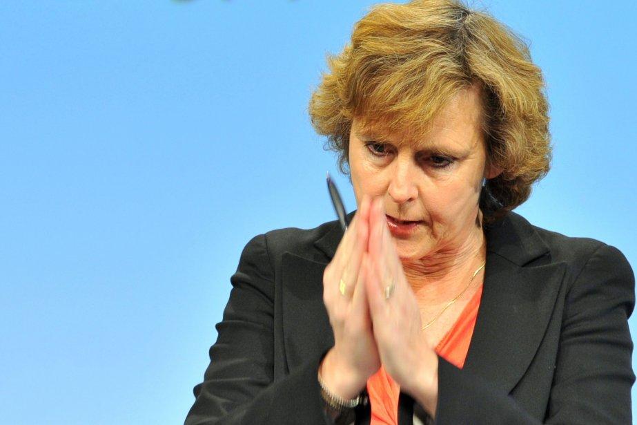 La Commissaire européenne responsable du Climat, Connie Hedegaard... (PHOTO GEORGES GOBET, ARCHIVES AFP)