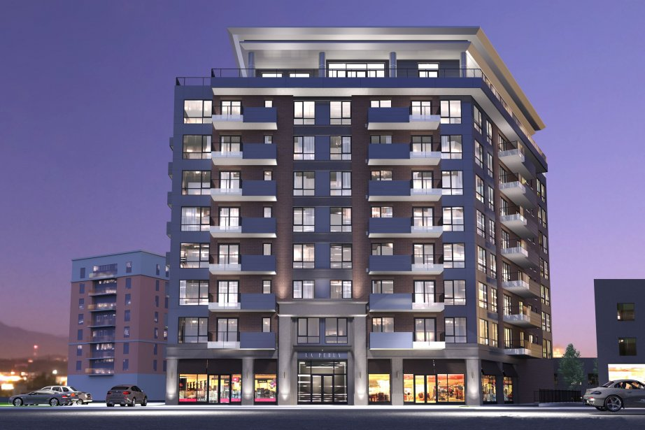 Illustration du projet La Perla Condominiums, à Saint-Léonard.... (Illustration fournie par Presti Construction)