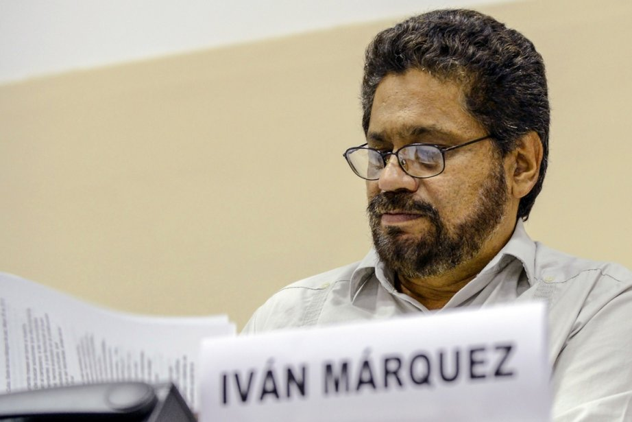 Le chef de la délégation des Farc Ivan... (PHOTO ADALBERTO ROQUE, AFP)