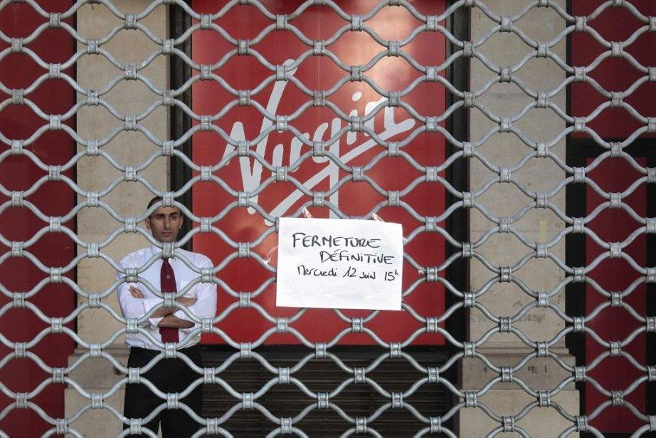Le Virgin Megastore de Nice... (Photo: AFP)