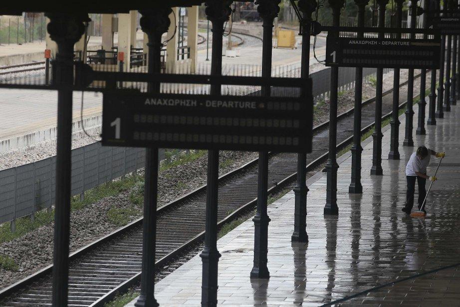 Les transports en commun étaient fermés jeudià Athènespour...