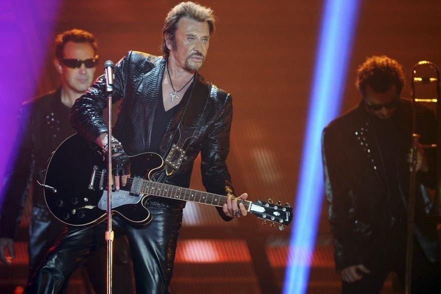 Johnny Hallyday en spectacle le 2 juin dernier.... (Photo: AFP)