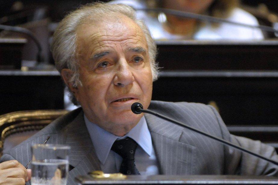 M.Menem, 82 ans, était absent à l'audience pendant... (Photo: AFP)