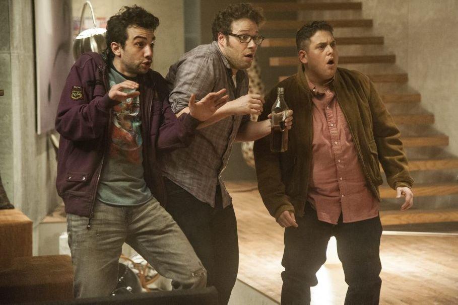 Jay Baruchel, Seth Rogen et Jonah Hill dans... (Photo: fournie par Sony Pictures)