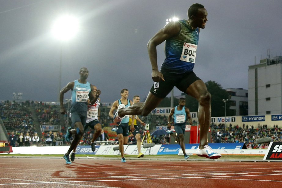 Les 19 sec 79/100 d'Usain Bolt sur le... (Photo : AFP)