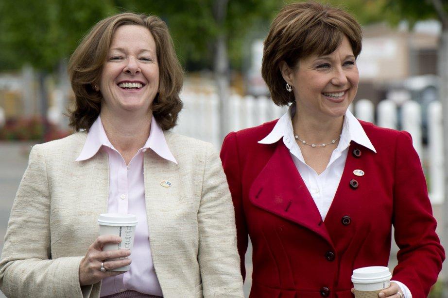 Christy Clark, première ministre de la Colombie-Britannique (à... (Photo onathan Hayward, La Presse Canadienne)