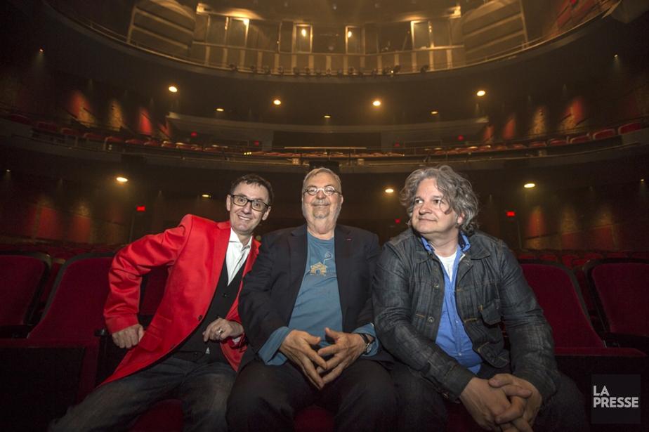René Richard Cyr, Michel Tremblay et Daniel Bélanger... (PHOTO LA PRESSE)