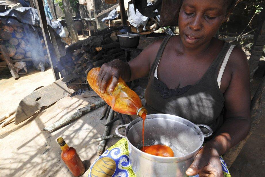 L'huile de palme en Côte d'Ivoire fait vivre... (Photo : Sia Kambou, AFP)