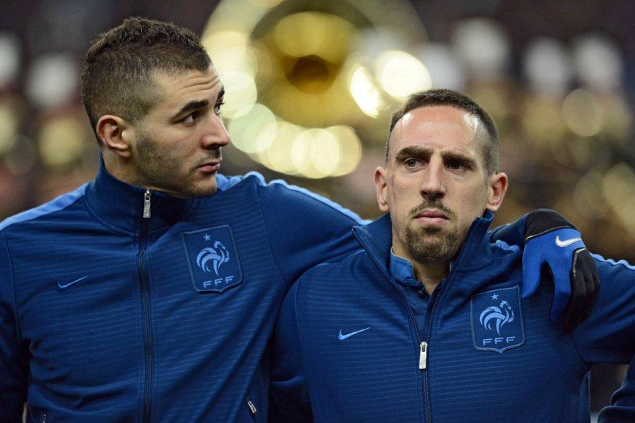 Karim Benzema et Franck Ribéry sont accusés d'avoir... (Photo : Franck Fife, archives AFP)