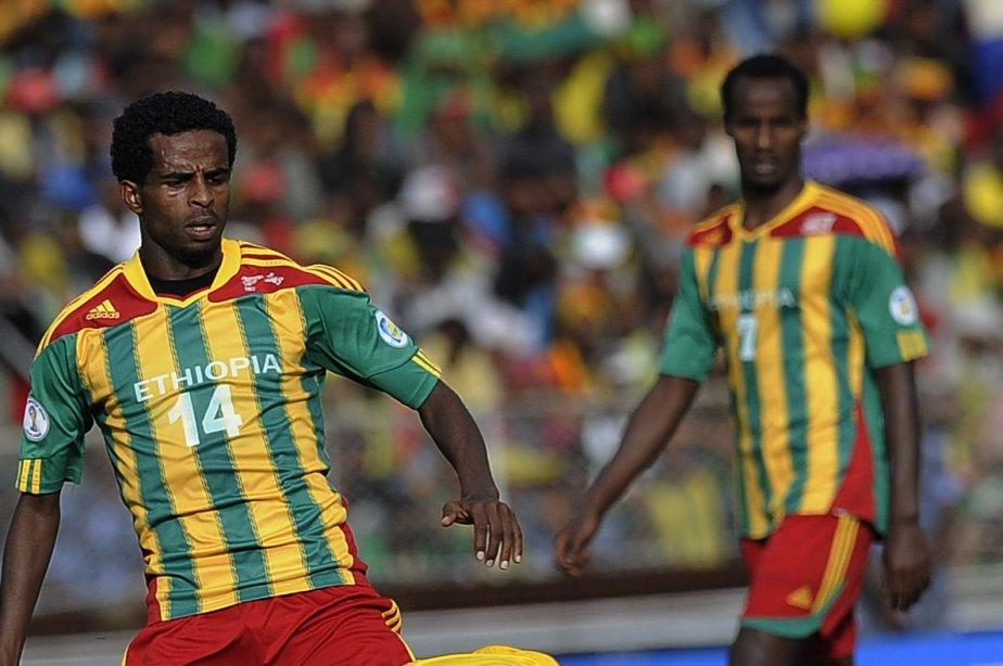 Des joueurs de l'Éthiopie lors du match contre... (PHOTO SIMON MAINA, AFP)