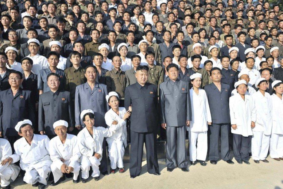 Le leader nord-coréen Kim Jong-Un lors d'une visite... (Photo AFP)