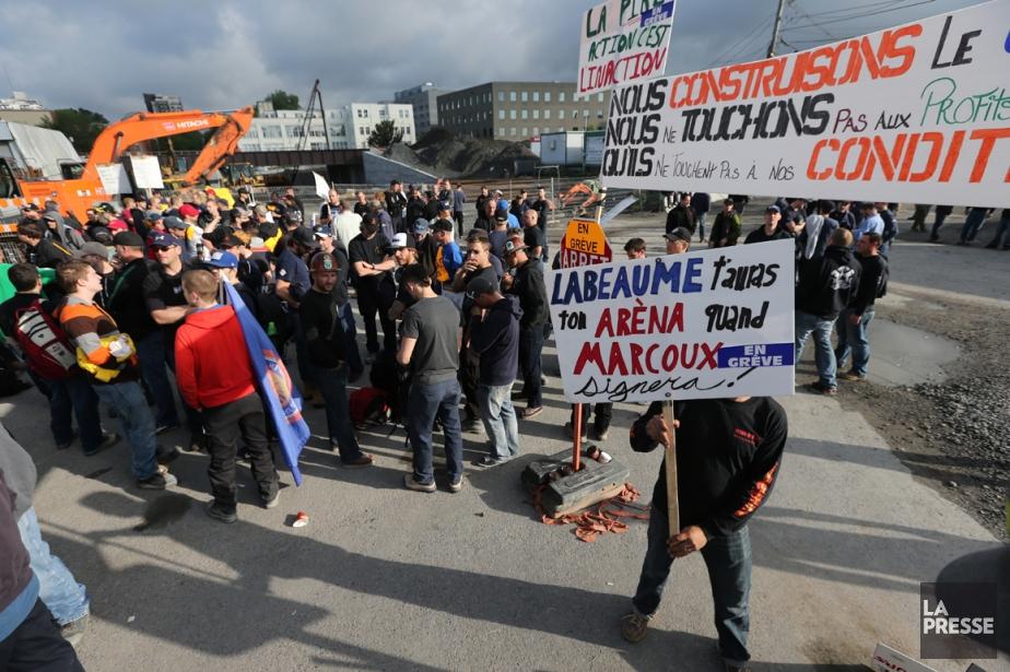 La grève générale affecte le chantier du CUSM... (Photo David Boily, La Presse)