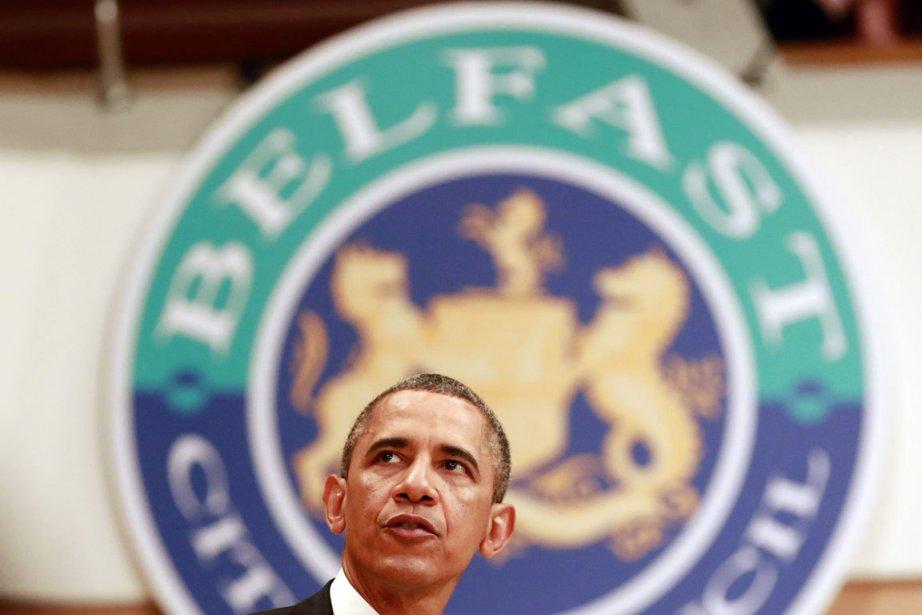 Pour la première fois depuis qu'il est président,... (PHOTO CATHAL MCNAUGHTON, REUTERS)