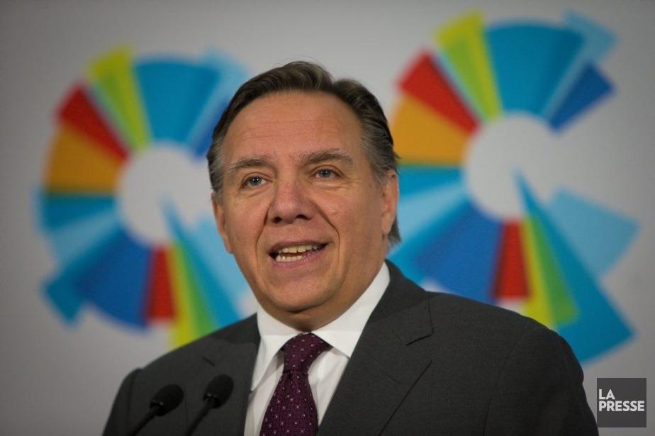 Le chef de la Coalition avenir Québec (CAQ),Francois... (Photo André Pichette, La Presse)