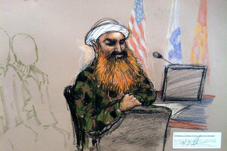 Khaled Cheikh Mohammed, cerveau autoproclamé des attentats du... (Photo: AP)