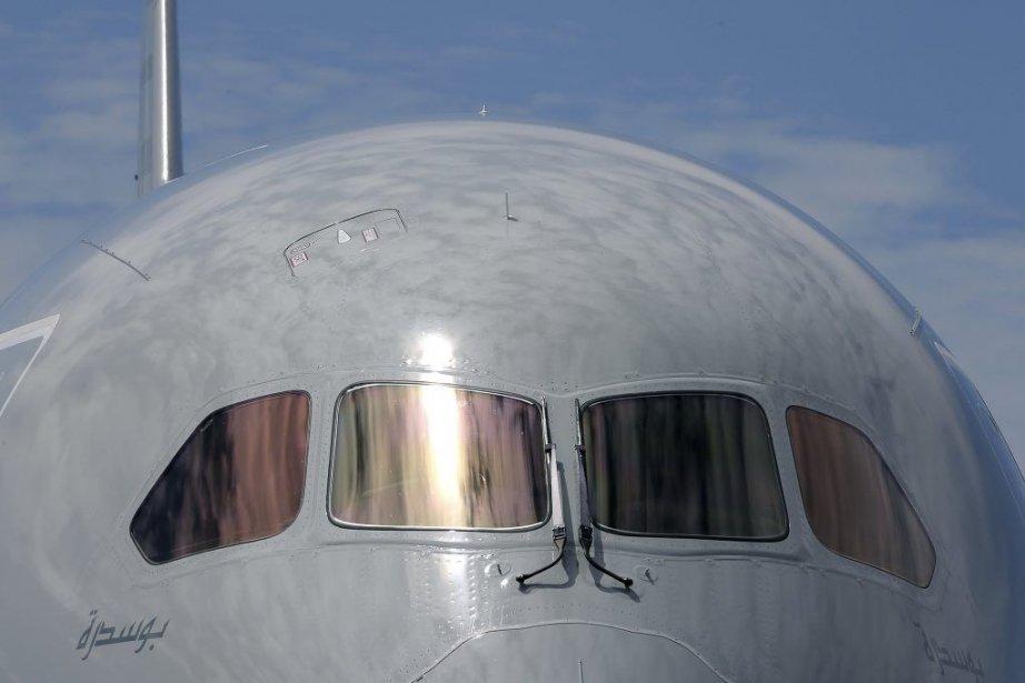 Un Boeing 787 Dreamliner à l'aéroport Le Bourget,... (PASCAL ROSSIGNOL)
