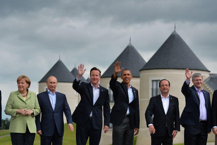 Les pays membres du G8 ont accouché mardi après-midi... (PHOTO BEN STANSALL, AFP)