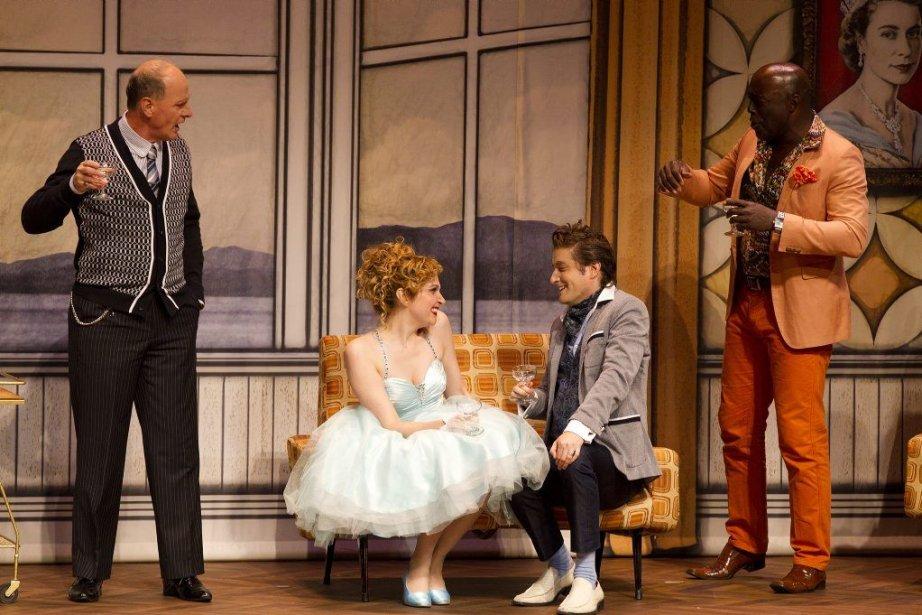 Les comédiens Michel Laperrière, Caroline Bouchard, Marc-François Blondin... (Photo Anne Gauthier, La Presse)